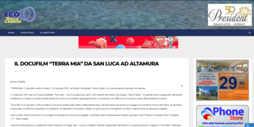 """Eco Della Locride: Il docufilm """"Terra Mia"""" da San Luca ad Altamura"""