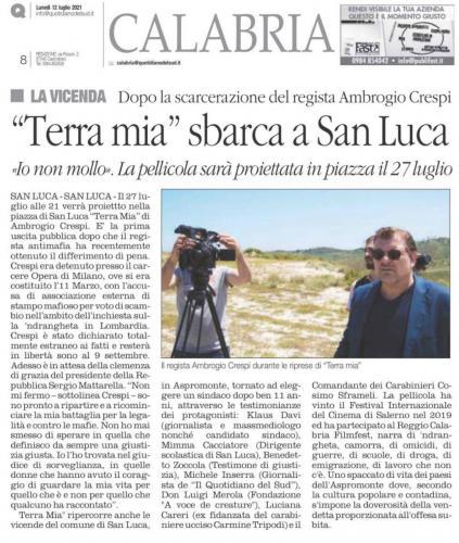 """Quotidiano del sud - Calabria: """"Terra Mia"""" sbarca a San Luca"""