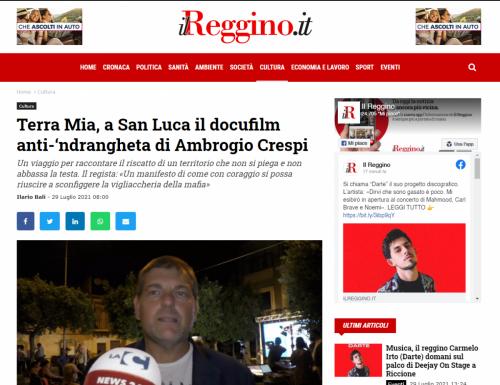 Il Reggino - Terra Mia, a San Luca il docufilm anti-'ndrangheta di Ambrogio Crespi